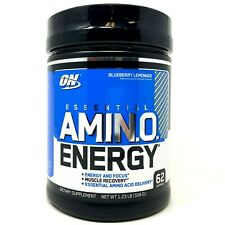 Optimum Nutrition ON Amino Energy 62 SERVING 1LB BCAA EAA Amino Acid Pre-Workout