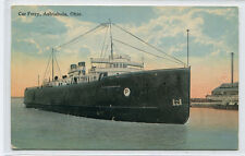 Steamer Car Ferry Ashtabula Ohio 1914 postcard