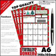 More details for christmas santa fundraising scratch cards - xmas -  20 squares