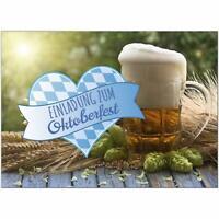 15 Einladungskarten Einladung Oktoberfest Umschläge Motiv Herz Bierkrug