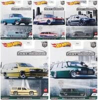 Hot Wheels Premium Car Culture Fast Wagons 2021 Set Of 5 Audi Volvo Chevy 1/64