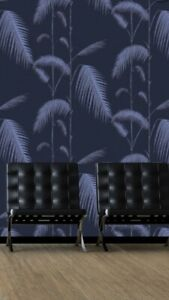 Cole & Son Palm Leaves Indigo And Violet 1 Roll