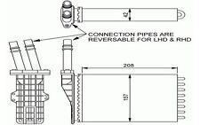 NRF Radiador de calefacción RENAULT ESPACE AVANTIME 54245
