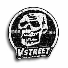 SKULL STICKER,vintage sticker, waterproof, self adhesive, 85mm, aged effect, new
