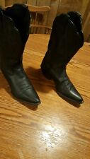 Ladies Womens Black Ariat 8.5 B Western Cowboy Boot Leather Snip Pointed...