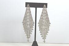 Fashion Sliver Crystal Rhinestone Ear Ring