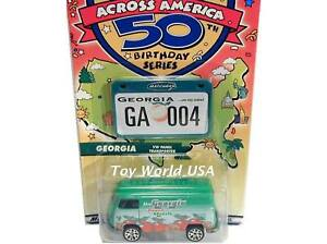 Matchbox ACROSS AMERICA 50th ~Georgia~ Volkswagen Bus Panel Van Transporter