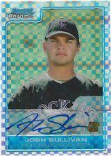 2006 Bowman Chrome Josh Sullivan x-Fractor Autografo