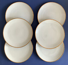 """More details for thomas germany china thick gold band white 8 1/4"""" dessert / salad plates x6"""