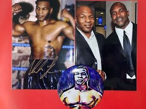 Mike Tyson ACEO Magnet & Autograph Photo Reprint Lot Boxing Heavyweight ring
