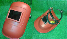 Maschera o schermo protezione saldatore, casco saldatura vetro incluso, visiera