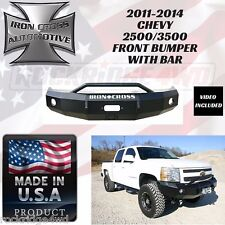 IRON CROSS FRONT BUMPER W/ PUSH BAR 2011-2014 CHEVY 2500 / 3500 *MADE IN USA*