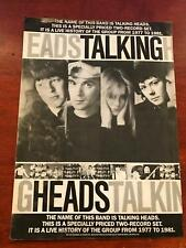 1982 Vintage 8X11 Print Album Promo Ad The Name Of The Band Is Talking Heads