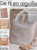 De fil en aiguille N°53 point croix broderie couture Véronique Enginger