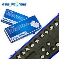 2Pack EASYINSMILE Orthodontic Bracket Crystal Ceramic Brackets Roth 022 345whook