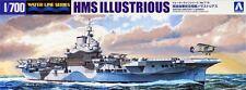 Aoshima 1/700 Waterline Model Kit Royal Navy Aircraft Carrier HMS Illustrious
