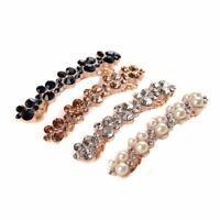 élégant clamp crystal des bijoux pearl des barrettes la pince à cheveux pierre