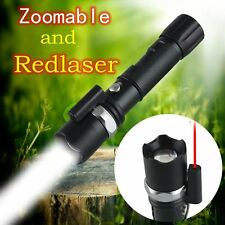LED FLASHLIGHT CREE TACTIQUE MILITAIRE ZOOM RECHARGEABLE AVEC LASER ROSS0