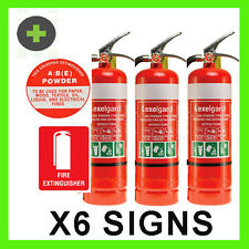 Fire Extinguisher 4.5kg ABE4A:60B:E  x3 Units