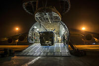 8x12 Photo C-5M Super Galaxy at Camp Bastion, Afghanistan 9th Airlift Squadron