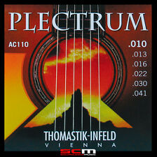 THOMASTIK PLECTRUM AC110 10-41 BRONZE ACOUSTIC GUITAR STRING SET SUPERB TONE