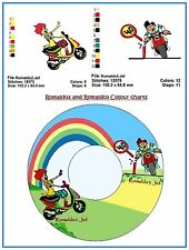 Australian Site ~ MOTORCYCLE 2 and 3 -Embroidery Design on a CD or Janome CFCard