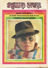 TRUMAN CAPOTE SIGNED Rolling Stone (1973) Cover Story, Sunday with Mister C.