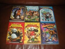 LOT 6 DVD DREAMWORKS CHAT POTTE CROODS SOURIS CITY KUNG FU PANDA1+2 MADAGASCAR 3