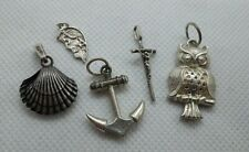 Amulet Commerce Health Fashion Jewelry 11gr 5 pcs Sterling Silver Charm Pendant