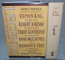 Signedx3 LEGENDS Robert Silverberg George RR Martin Terry Pratchett Stephen King