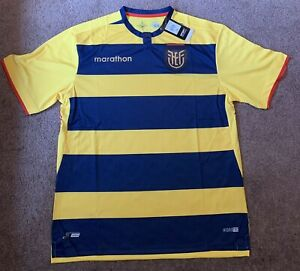 Marathon 2021 Ecuador Home Soccer Jersey XXL Futbol Camiseta Yellow NWT