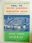 1958 FA Cup FINAL BOLTON WANDERERS v MANCHESTER UNITED, 3rd May (Org*, VG)