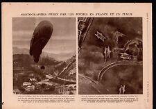 WWI British Tanks Cambrai/ Zeppelin rigid airship France Italy 1918 ILLUSTRATION