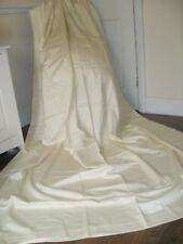 """EXTRA LARGE QUALITY CURTAINS + TIES CREAM 100% COTTON """"NEW"""" UNUSED CONDITION"""