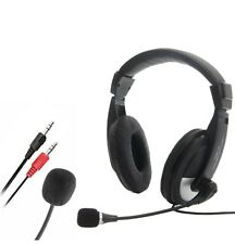 New Skype Headset Headphones with Microphone for PC Gaming 3.5mm Audio Speaker