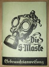 GERMAN WWII MANUAL / INSTRUCTION FOR WEHRMACHT GASMASK
