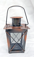 Antique Victorian Style Copper & Glass Candle Lantern - BNWT