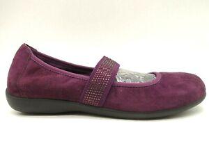 Vionic Fern Deep Burgundy Jeweled Mary Jane Comfort Loafers Shoes Women's 7
