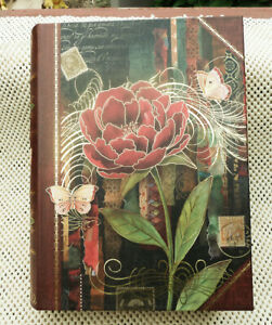 Punch Studio Large Book Storage Box, Roses & Butterflies 11 x 8-1/2 x 2-1/2