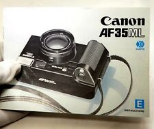 Canon AF35ML  Camera  Instruction Guide Manual  English 1981
