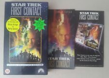 Star Trek First Contact Special Collectors Edition VHS + 3D Postcard