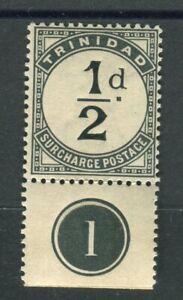 Trinidad & Tobago 1885 Postage Due halfpence slate-black SG.D1 MLH