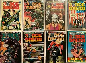 Judge dredd eagle comic lot From:#2-35 11 different 6.0 FN (1983-86)