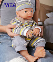 IVITA 20'' Full Silicone Reborn Baby GIRL Blue Eyes Silicone Doll Infant