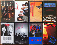 8x HEART CASSETTE TAPES JOB LOT BUNDLE ANN & NANCY WILSON LITTLE QUEEN EX COND