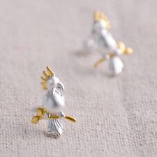 Ohrstecker Papagei echt Sterling Silber 925 Damen Kinder Ohrringe Vögel