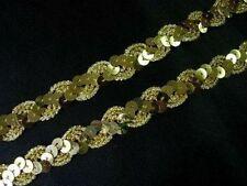 Ribetes de costura color principal oro