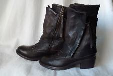AIR STEP Stiefelette Boots Echtleder dunkelbraun Gr. 36 - 37 TOP !!!