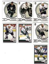 03/04 Pacific Private Stock Anaheim Mighty Ducks 7 card lot Giguere Chistov +