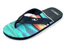 O'Neill Mens UK 10 EU 44 Blue & Yellow Toe Post Flip Flops Thong Summer Sandals